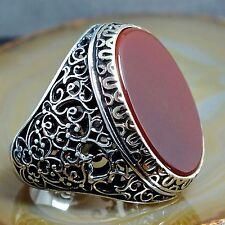 Herren Ring 925 Sterling Silber Karneol  Schmuck mit Eleganz GR 68