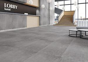 Feinsteinzeug  Bodenfliese Titan grau matt 60x120 cm Feinsteinzeug Bodenfliesen ...