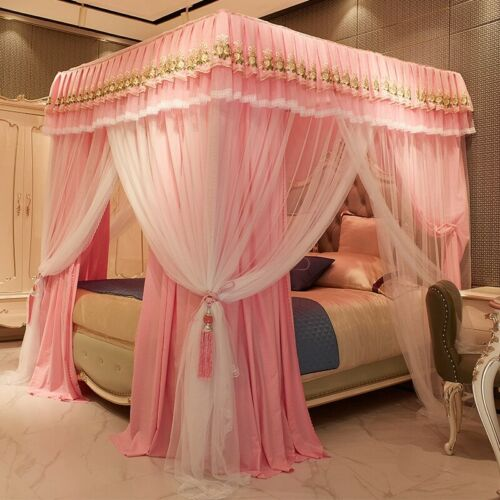 Luxury mosquito net for summer bed canopy with stainless steel frame Bed curtain