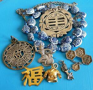 ANTIQUE ASIA JEWELRY JEWELS / LOT DE BIJOUX ANCIENS VINTAGE ET FANTAISIE / ASIE