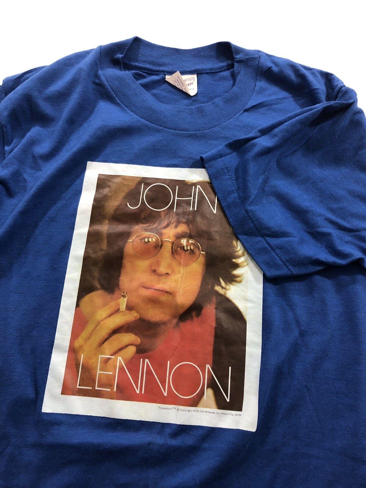 70s 80s VTG VTG VTG Single Stitch 50/50 John Lennon T Shirt Iron On Mint The Beatles Usa 771fb6