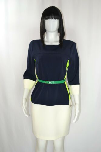 J. Taylor Chic Neon Color Block Sheath Dress with