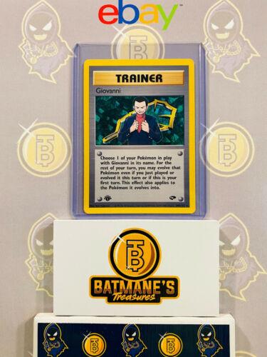 Trainer Giovanni 104//132 1st Edition NM Gym Challenge Rare Non-Holo Pokemon Card