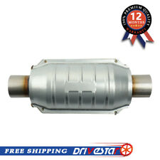 2 Inletoutlet Universal Catalytic Converter With O2 Port Amp Heat Shield
