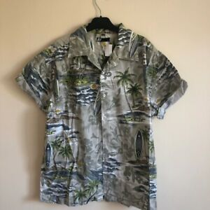 Mens-Hawaiian-Vintage-Party-Shirt-Size-L