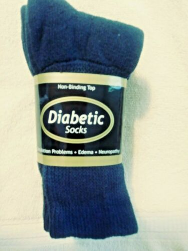 size 9-11 *** Men/'s//Women/'s Navy Blue Diabetic socks *** 3 pr