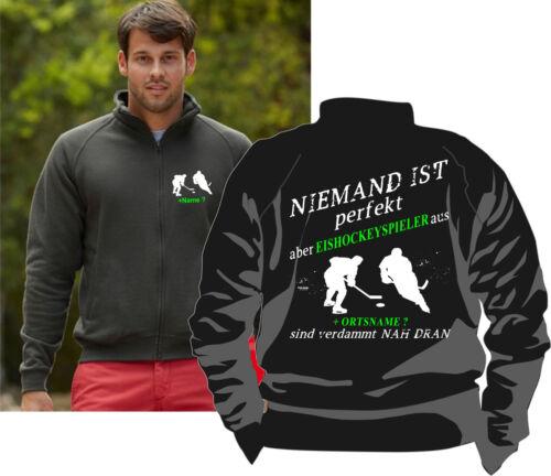 Eishockey Hockey Icehockey Bekleidung Jacke Pullover Sweatshirt Kapuzenjacke 19