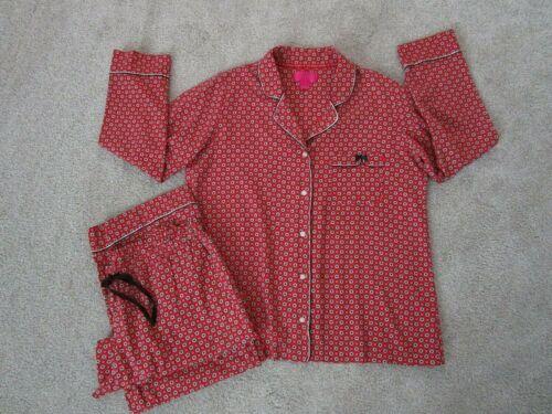 Victoria's Secret Pajama Set L Red Cotton EC