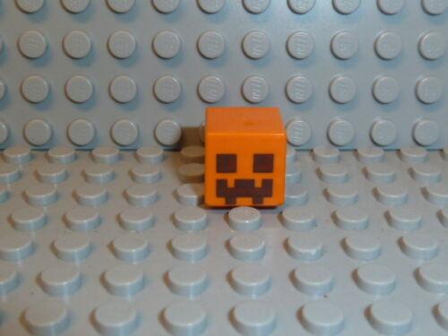 LEGO ® Minecraft 1x Personnage Tête neige Golem Orange Cube 19729pb001 21128 f1903