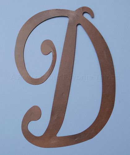 D Large Rustic Metal Monogram Letter Front Door Porch Patio Wall Art Home Decor