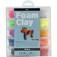 Foam Clay Schaumstoff Modelliermasse Wolkenschleim Basic 10 x 35 g Knete NEU
