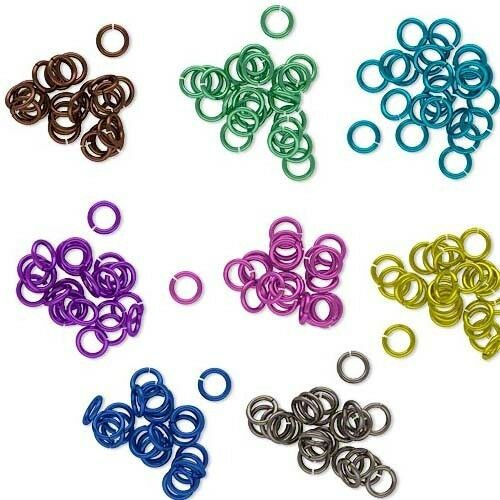 25 Bright Colored Open Round Niobium 20 Gauge 0.81mm Jump Rings For Jewelry