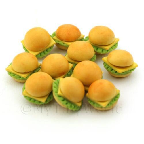 5x casa delle bambole miniatura Cheese Burgers