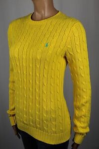 girocollo giallo turchese Pony Ralph Lauren cavo maglione Nwt maglia xCw6IR65