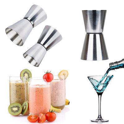 Acier inoxy Double Mesure Esprit Gobelet Doseur Tasse à Mesurer Cocktail Cuisine