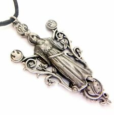 Greenwood Elemental Gaia Earth Mother Amulet Pendant Necklace Pewter GW09