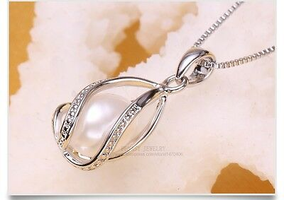 Pearl Jewelry,100% natural Pearl Pendant Necklace,925,Sterling silver