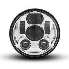 """5.75"""" Chrome Projector LED Headlight Insert for Harley Davidson Sportster Models"""