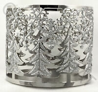 Bath & Body Works Glitter Trees & Snowflakes 3 Wick 14.5 Oz Candle Holder Sleeve