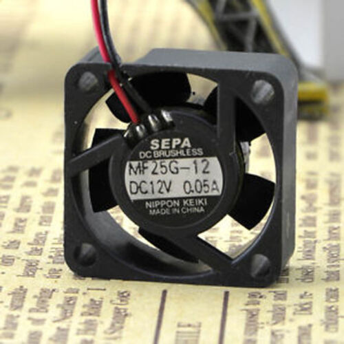 SEPA 2510 MF25G-12 fan 12V 0.05A 25*25*10mm 2pin #M528 QL KC1