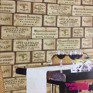 tapete weinkisten holz holzoptik schrift kisten vintage g12307 4 88 qm ebay. Black Bedroom Furniture Sets. Home Design Ideas