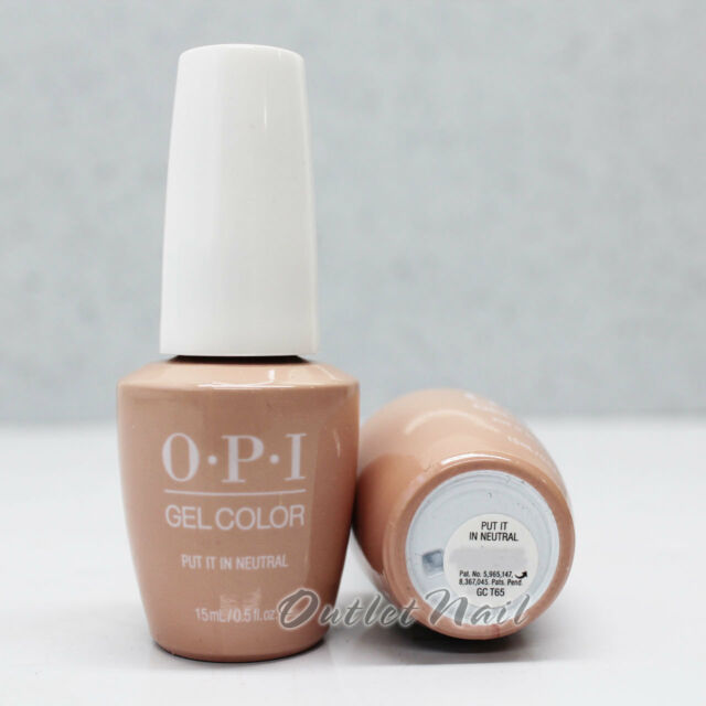Opi Gelcolor Soft Shades Collection Gc T65 Put It In Neutral 15ml Gel Color