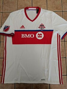 newest bbb8a 5ab1c Details about Toronto FC 16/17 Away Shirt Replica Blank Jersey Adidas Men's  White NWT sz XL