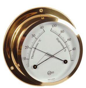 Thermometer Hygrometer analog Barigo Star messing 110mm