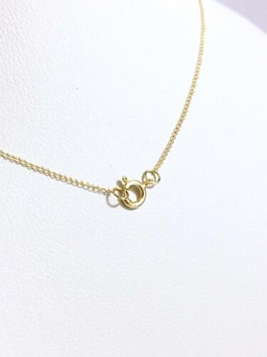 chaîne faite de 14 carats Solide Or Jaune Or Massif Câble Liés Chaîne 17 in environ 43.18 cm