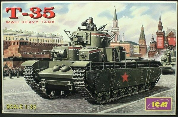 ICM 1 35 T-35 WWII Heavy Tank Plastic Model Kit