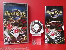 HARD ROCK CASINO - Jeu PSP Complet avec sa Notice