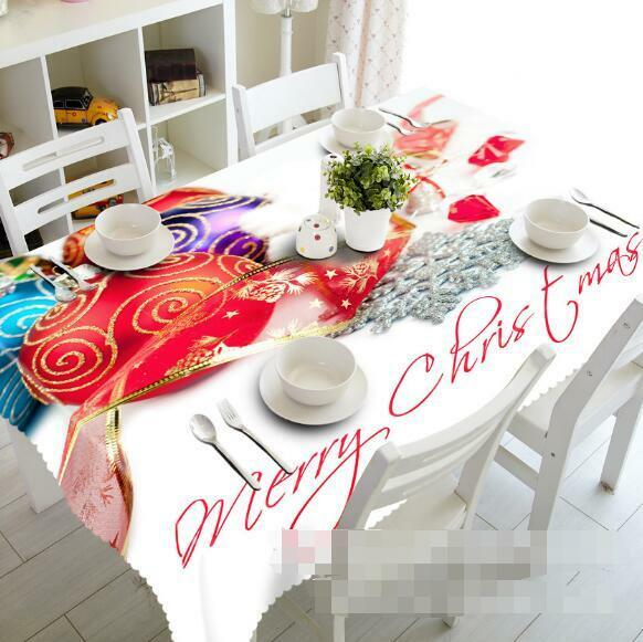 3D Red ball890 Tablecloth Table Cover Cloth Birthday Party Event AJ WALLPAPER UK