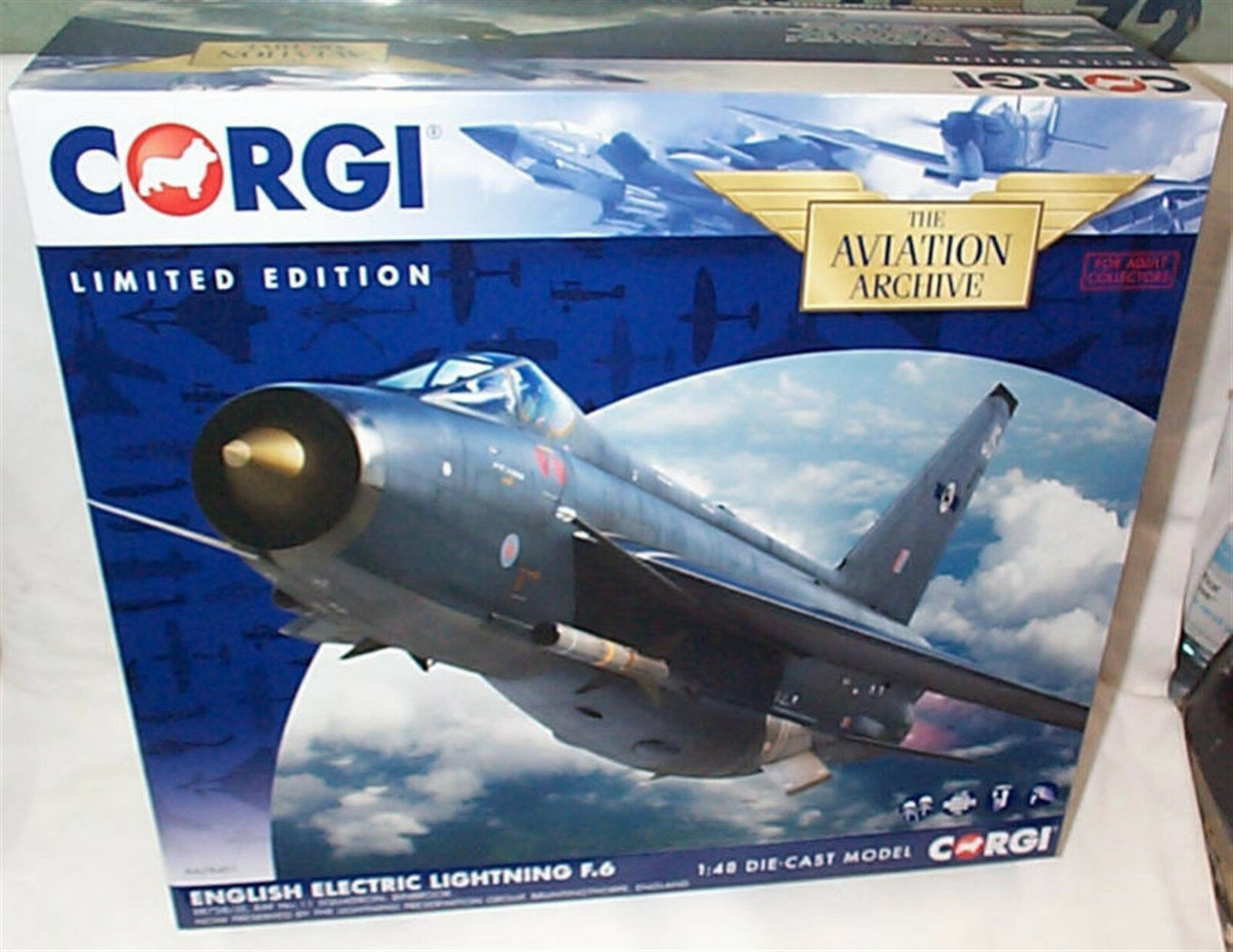 AA28401 CORGI English Electric Lightning F.6 1 48 DIE-CAST ltd ed New Boxed