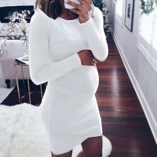 Autumn Maternity Dress For Pregnancy Long Sleeve Women/'s Dress Mother Clothes
