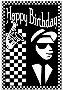 SKA-MODES-CARTE-HAPPY-BIRTHDAY-FINITION-LUSTREE-TOUT-NEUF