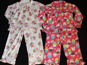 c83ee2eb9bef NWT Carter s Girls Fleece Pajamas Size 4 Winter Pjs 2 pairs Pink ...