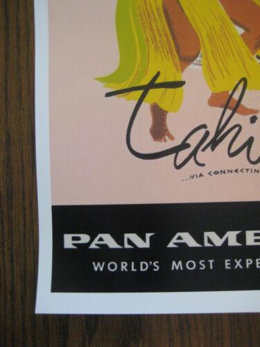 "FIJI B2G1F Pan American Air Lines 11/"" x 17/"" Collector/'s Travel Poster Print"