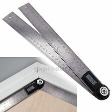 2-in-1 Digital Angle Finder Meter 600MM Protractor 0~360° Stainless Steel Ruler