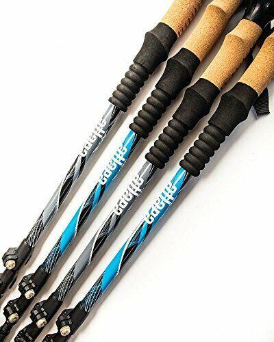 Atlapa Sports Grey Trekking Poles with Cork Grips 2 pcs of Strong fuschia