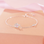 Real-925-Sterling-Silver-Petal-Bracelet-Chain-Bangle-SOLID-SILVER-Jewelry-Italy thumbnail 1