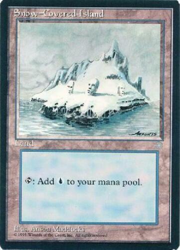 Snow-Covered Island NM MTG Ice Age IA Magic Gathering