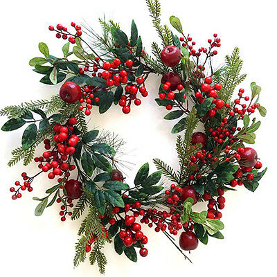 Large Berry and Apple Wreath
