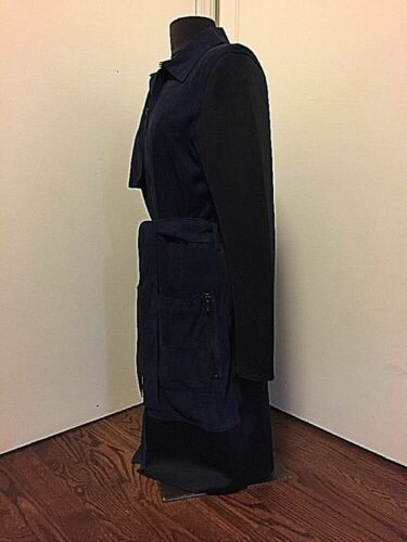 Belted Navy Jacket Size L black Posen 00 Zac 813987026419 New Suede Coat 795 Retail fZwqpYnBW