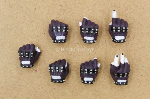 x7 Crime Prince Fingerless Gloved Hand Set The Joker 1//12 scale toy