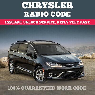 CHRYSLER JEEP DODGE RAM RADIO CODE SUPPLY T00AM T00BE UNLOCK CODE PIN SERVICE