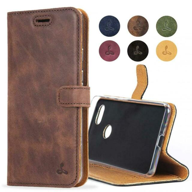 sale retailer c591c 28962 Snakehive Google Pixel 3 Case, Luxury Genuine Leather Wallet with Brown