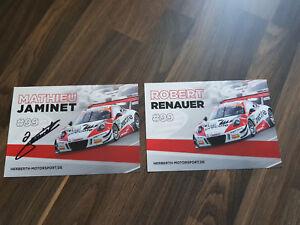 ADAC-GT-Masters-Autogrammkarte-Porsche-GT3-Renauer-amp-Jaminet