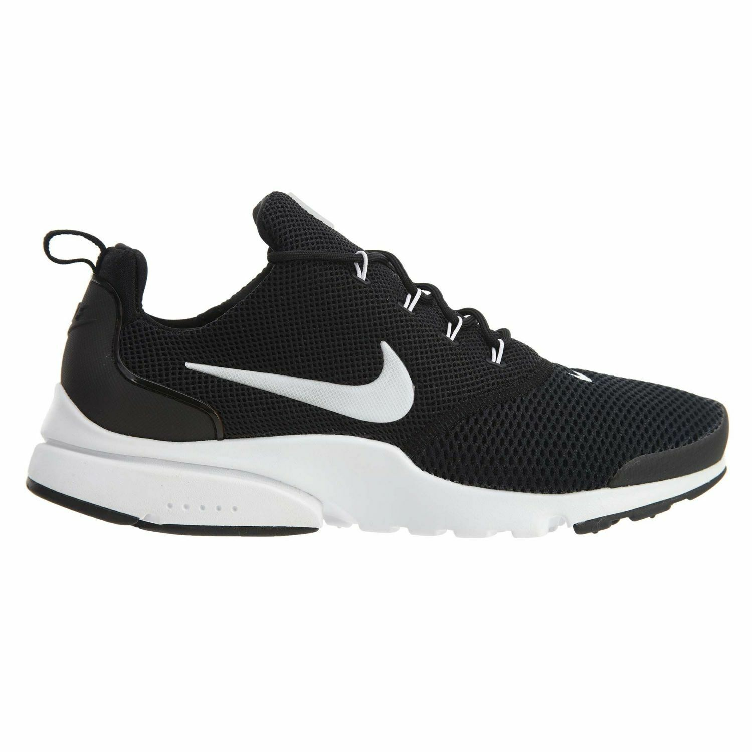 Nike Presto Fly Mens 908019-002 Black White Flyknit Running Shoes Size 9.5