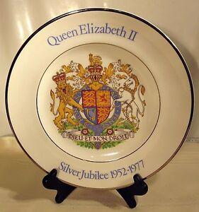 1977 Queen Elizabeth II Silver Jubilee Souvenir by Wood & Sons England Plate