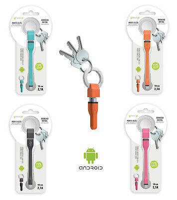 Green E Llavero Cable Smartphone Tablet Android Micro Usb 2.0 Memoria Regalo